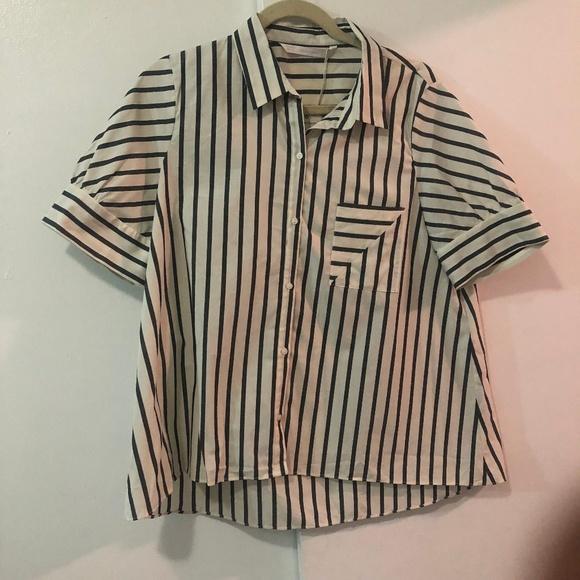 Zara Tops - NWT Zara Boyfriend-Fit Button Down Shirt